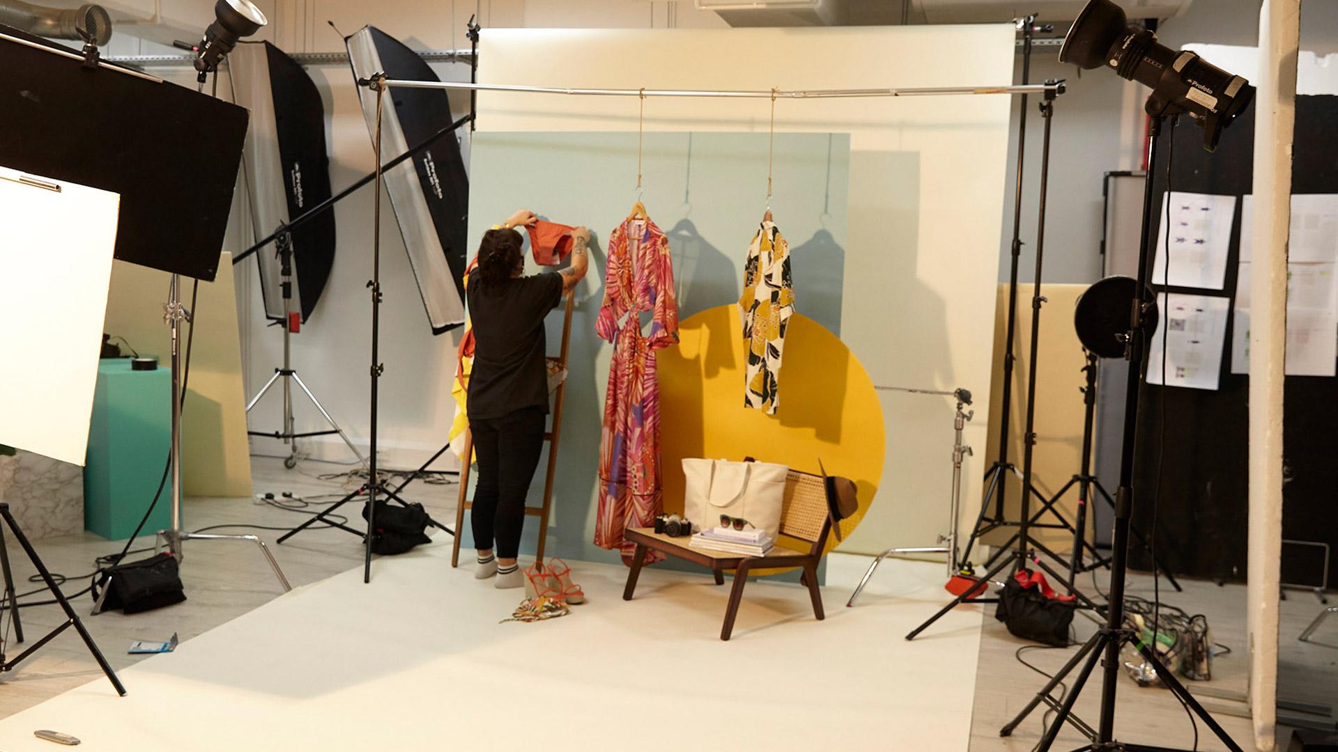 McArthur Glen BTS fashion photography