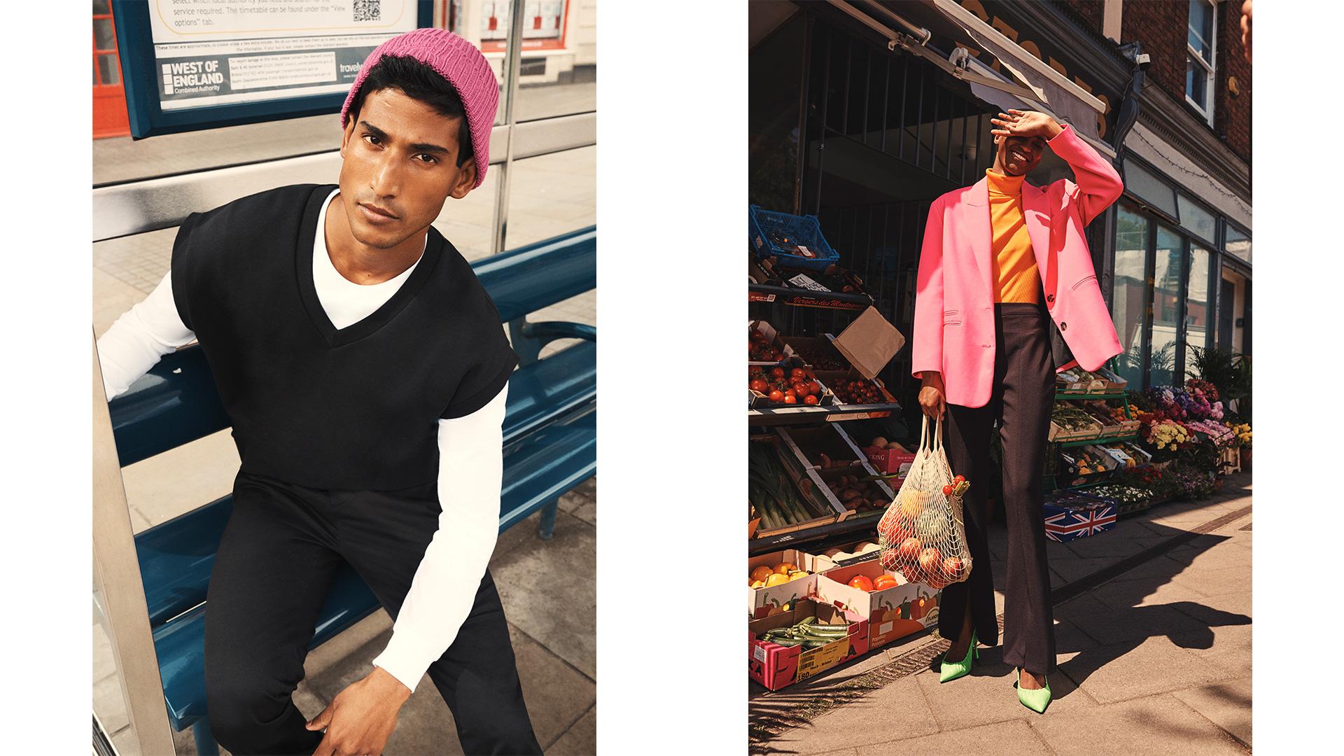 River Island fashion model clothing retouching